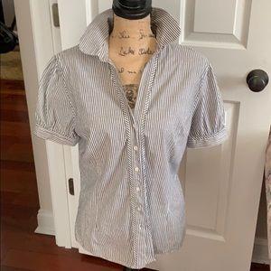Size large Benneton button down striped shirt